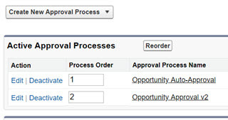 Two active approval processes in for Auto-Approval in Salesforce