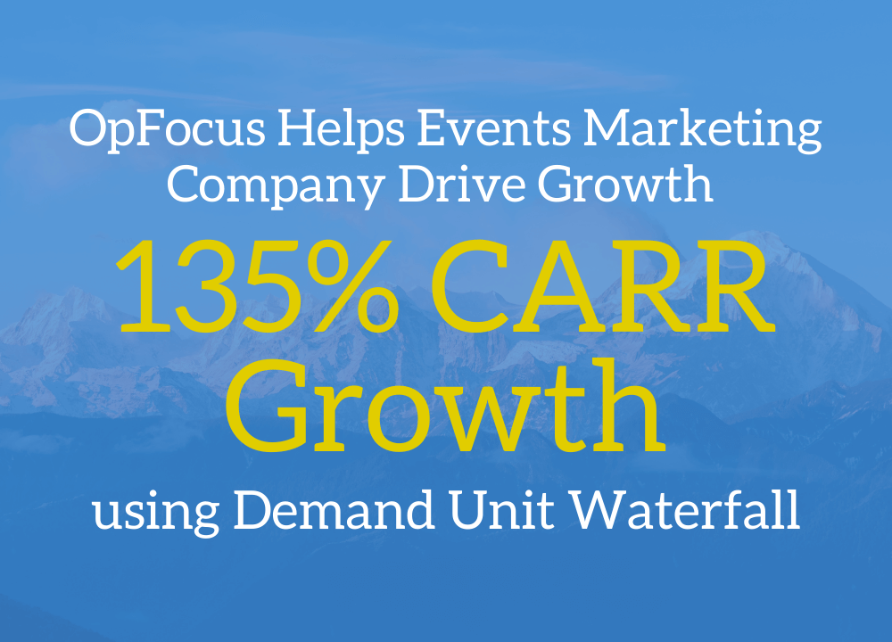 OpFocus Helps Events Marketing Company Drive 135% CARR Growth using Demand Unit Waterfall