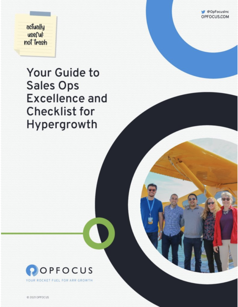 Advanced Sales Ops: 4 resources for scaling excellence - an operations guide from OpFocus